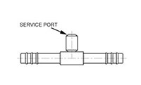 Straight Splicers with Switch or Service Port