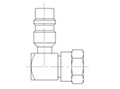 90 Degree R134a Service Port Screw-on Adapter Fittings for Retrofit (Steel)